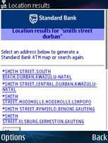 Choose Location of nearest ATM