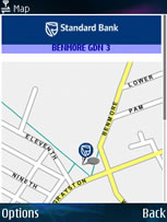 Show ATM on a streetmap