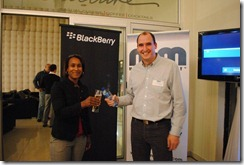 Blackberry speakers: Michael and Sanyu