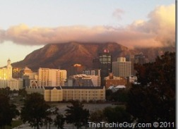 Cape Town mountain view