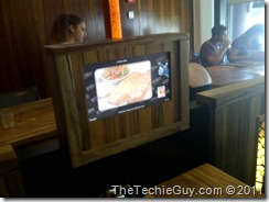 Restaurant touchscreen
