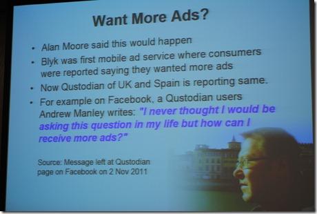I want more ads