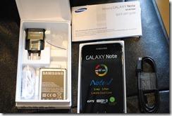 Gaalxy Note - unboxking