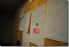 Story boards line the walls