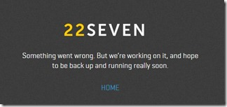 22seven - technical issues