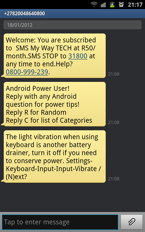 Warning Sms Scam On Android