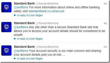 Standard Bank reaction to 22seven