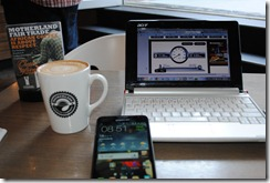Love being mobile - Galaxy Note, Acer Netbook, MTN LTE and coffee