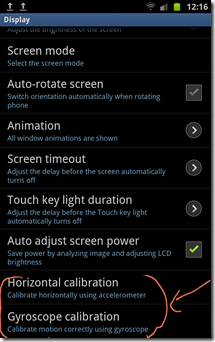 Galaxy Note - s-pen calibration