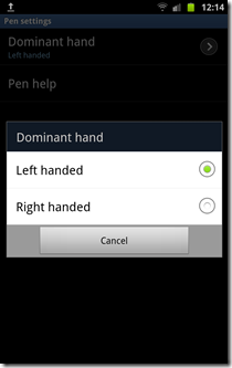 How to calibrate Galaxy note S Pen -