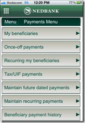 Nedbank banking app