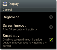 Samsung Galaxy SIII - Smart Stay