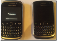Blackberry Curve 9320  compared to the 8900