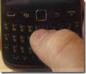 Blackberry Curve 9320  - keybaord