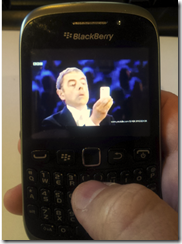 Blackberry Curve 9320  - clear screen