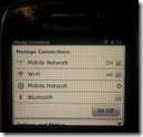 Blackberry Curve 9320  - Mobile Hotspot