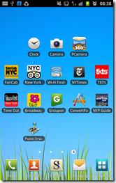 Galaxy Note - New York screen