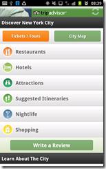 Trip Advisor Android app