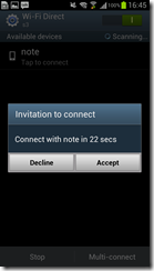 Samsung Galaxy SIII - WiFi Direct