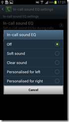 Samsung Galaxy SIII - Call options