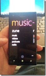 Nokie Lumia 900 - Music