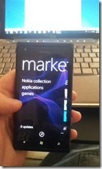 Nokie Lumia 900 - Marketplace