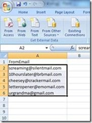 Remove duplicate email address