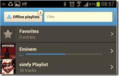 Simfy - Mobile offline