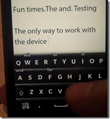 Blackberry 10 JAM Cape Town - keyboard