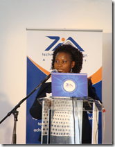 TIA spokesperson on the YTIF campaign, Dr Margaret Mkhosi, explained the fund at the launch event today and congratulated the young innovators who were present