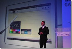 Samsung Galaxy Note 10.1 -Yudi Rambaran, Product Manager Tablets at Samsung SA