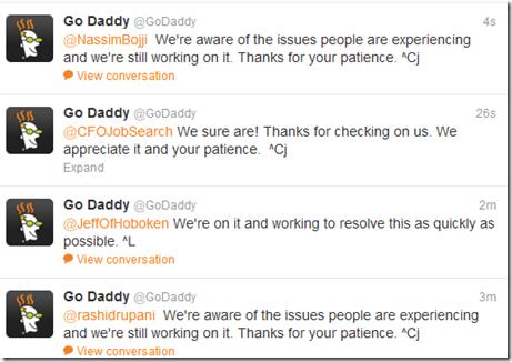 GoDaddy is down
