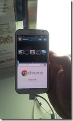 Galaxy Note II - split screen in portrait mode