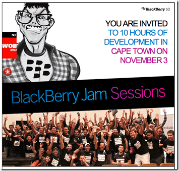 Blackberry Jam Session - Cape Town 2012