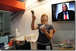 Ice cream ninja at work - up