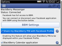 Facebook 3.3 - BBM™ Integration