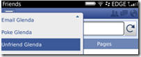 Facebook 3.3 - Unfriend