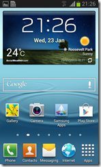 Samsung Galaxy S3 Mini - interface