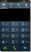 Samsung Galaxy S3 Mini - phone dialer