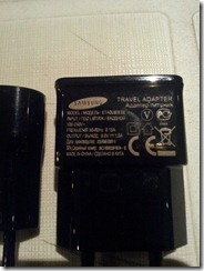 Wall charger with correct specification