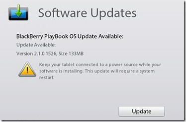 Playbook software update