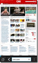 Blackberry Z10 - browser in desktop mode