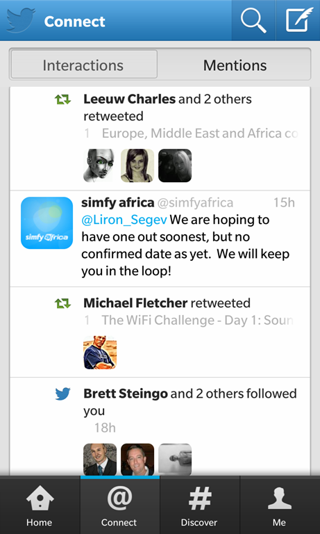 BlackBerry 10: Twitter updated to 10 0 2 3 and Facebook updated to