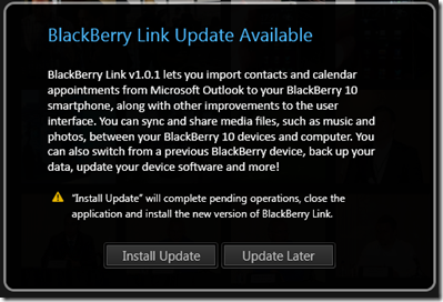 BlackBerry Link gets upgraded to 1.0.1