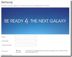MTN - pre-order Galaxy S4