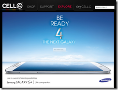 Cell C - pre-order Galaxy S4