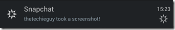 Snapchat - notification