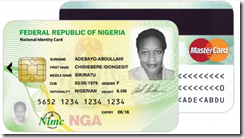 MasterCard-branded National Identity Smart Cards