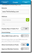 setting up BBM Channel